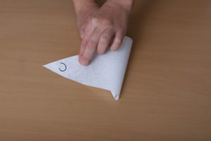 Backpapier zum Falten von Spritztüten