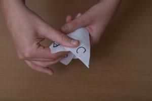 Papierstanitzel fertigstellen